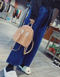 Fashion Pink Cartoon Ears Design Pure Color Backpack