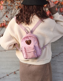 Fashion Pink Leopard Pattern Decorated Backpack