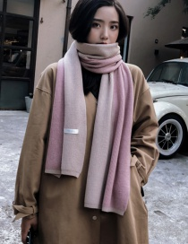 Fashion Pink Color-matching Decorated Scarf