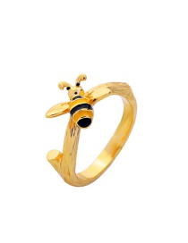Fashion Gold Color Bee Shape Decorated Ring