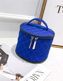 Fashion Blue Pure Color Decorated Bag