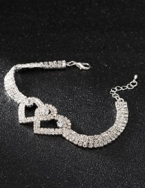 Fashion Silver Color Heart Shape Design Pure Color Anklet&bracelet