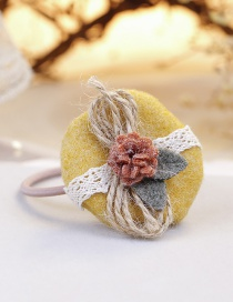 Lovely Yellow Flowers Decorated Child Hair Band