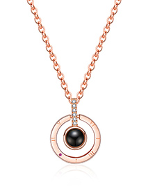 Fashion Gold Color Circular Ring Decorated Long Necklace