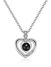 Fashion Silver Color Hollow Out Heart Shape Decorated Necklace