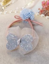 Fashion Light Blue Bowknot Shape Decorated Hairband