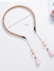 Fashion Champagne Tassel Decorated Hair Hoop
