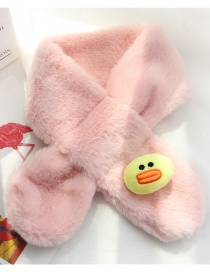 Fashion Pink Duck Shape Decorated Child Scarf