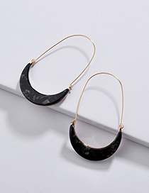 Fashion Black U Shape Design Earrings