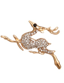 Fashion Gold Color Deer Shape Design Brooch