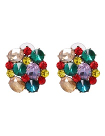 Fashion Multi-color Full Diamond Decorated Tassel Earrings
