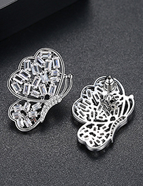 Fashion Silver Color Hollow Out Design Butterfly Shape Earrings