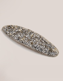 Fashion Silver Color Oval Shape Decorated Hair Clip
