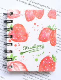 Fashion Red Strawberry Pattern Decorated Notebook(100 Sheets)