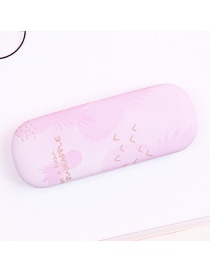 Fashion Pink Pineapple Pattern Decorated Glasses Case