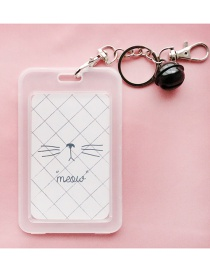 Fashion White Cat Pattern Decorated Card Cover