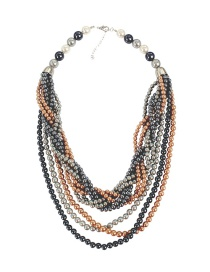 Fashion Multi-color Multi-layer Design Necklace