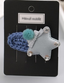 Fashion Gray Star Shape Decorated Hair Clip