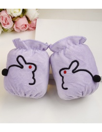 Fashion Purple Rabbit Pattern Decorated Sleeve For Child