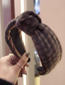 Fashion Coffee Knot Shape Design Simple Hair Hoop