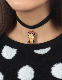 Fashion Multi-color Portrait Shape Decorated Necklace