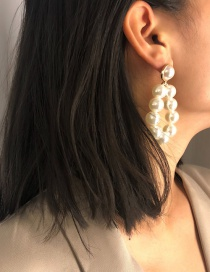 Fashion Gold Color Full Pearl Decorated Earrings