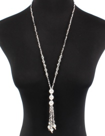 Fashion Silver Color Bead Decorated Necklace
