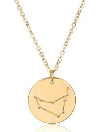 Fashion Gold Color Capricorn Shape Decorated Necklace