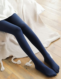 Fashion Navy Pure Color Decorated Thin Feet Leggings