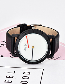 Fashion White Pure Color Decorated Simple Watch