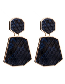 Fashion Blue Geometric Shape Decorated Earrings