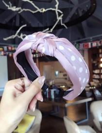 Fashion Purple Spot Pattern Decorated Hair Hoop