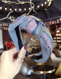 Fashion Blue Color Matching Decorated Hair Hoop