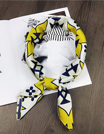 Fashion Yellow Clover Pattern Decorated Scarf