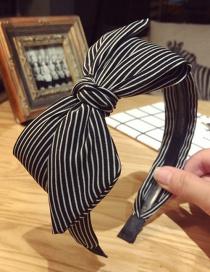 Elegant Black Bowknot Shape Decorated Hair Clip