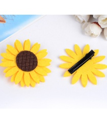 Elegant Yellow Sunflowers Decorated Hair Clip(1pc)