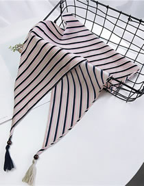 Fashion Pink Stripe Pattern Decorated Small Scarf