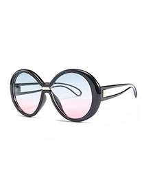 Fashion Pink+blue Color Matching Design Sunglasses