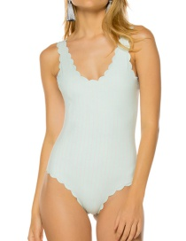 Sexy Pale Blue Stripe Pattern Design One-piece Bikini