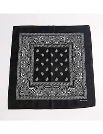Fashion Black Cashew Pattern Decorated Small Scarf