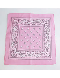 Fashion Pink Cashew Pattern Decorated Small Scarf