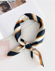 Fashion White Stripe Pattern Decorated Scarf