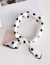 Fashion White Dots Pattern Decorated Scarf