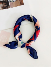 Fashion Navy Color-matching Decorated Scarf