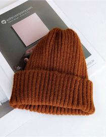 Fashion Brown Pure Color Decorated Hat
