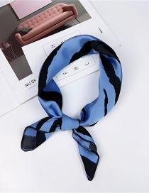 Fashion Blue Zebra Pattern Design Simple Scarf