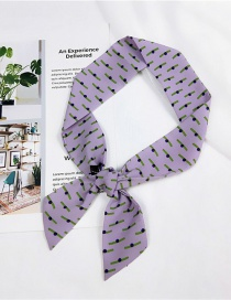 Fashion Purple Lines&dots Pattern Decorated Scarf