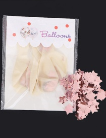 Fashion Rose Gold Paillette Decorated Balloon