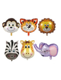 Fashion Multi-color Animal Shape Decorated Balloon(6pcs)