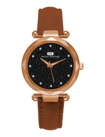 Fashion Rose Gold Alloy Diamond Watch With Steel Strap